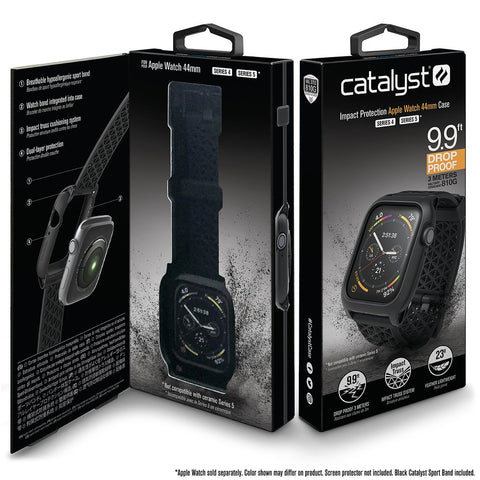 Catalyst Impact Protection Case for Apple Watch Series 4 & 5 for 44mm - Stealth Black