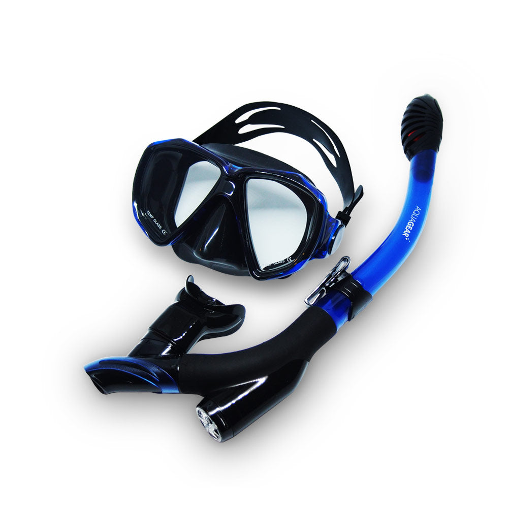 AquaGear Dry Top Snorkel Set – Adults