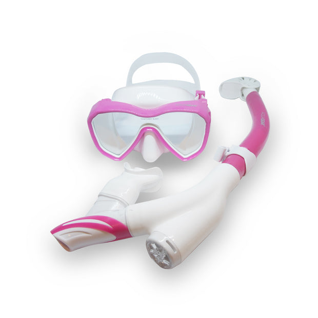 AquaGear Dry Top Snorkel Set for Kids