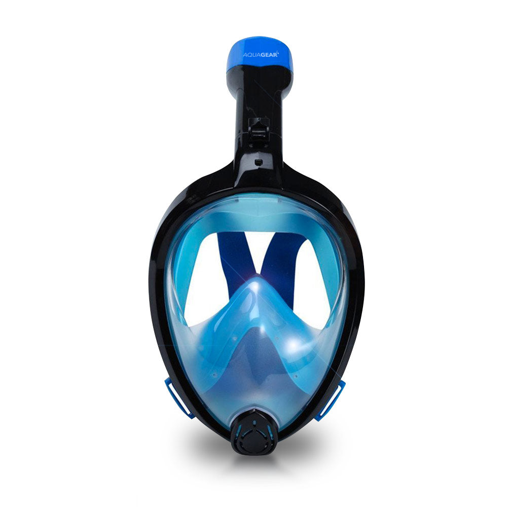 AquaMask II - Full Face Snorkel Mask (Black-Blue)