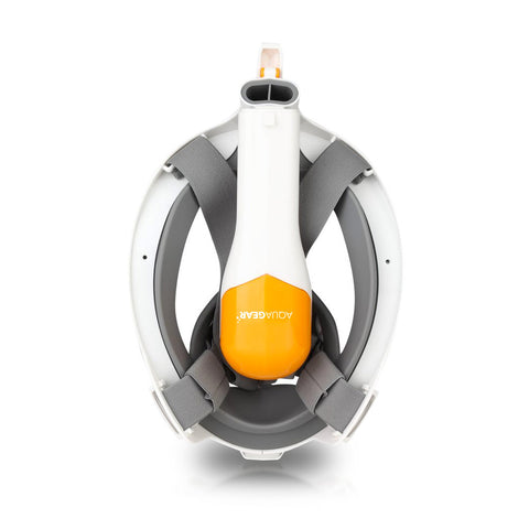 AquaMask II - Full Face Snorkel Mask (Grey-Orange)