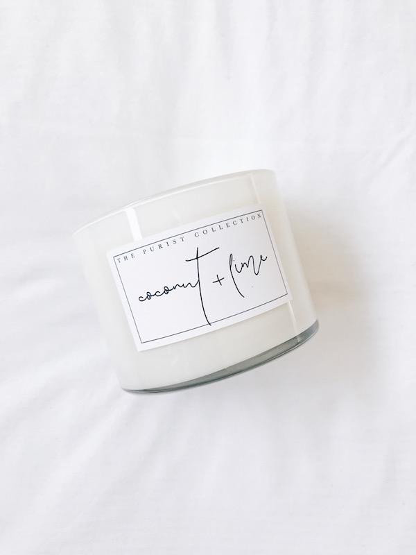 The Purist Collection Coconut and Lime Candle (340g)