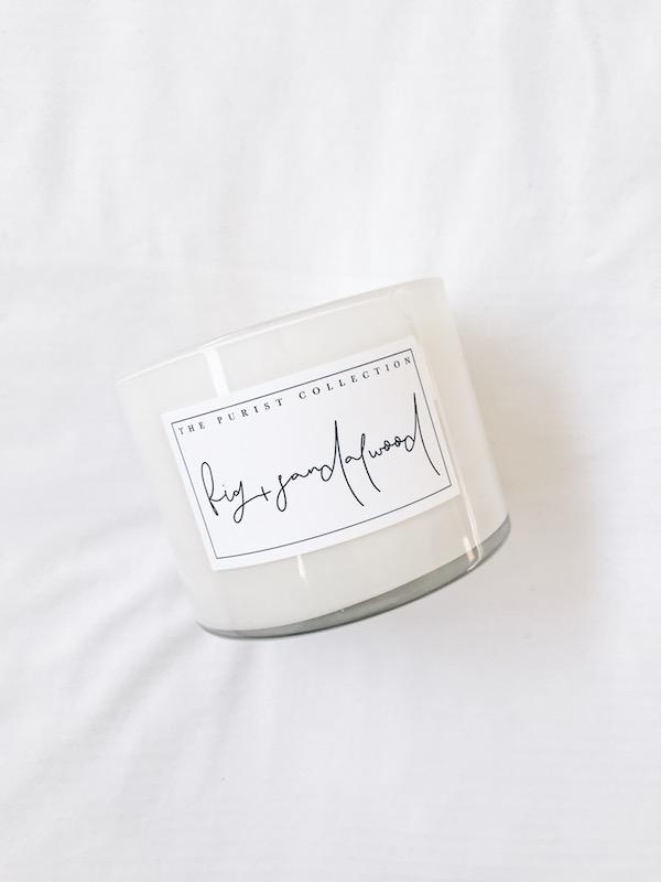 The Purist Collection Fig and Sandalwood Candle (340g)