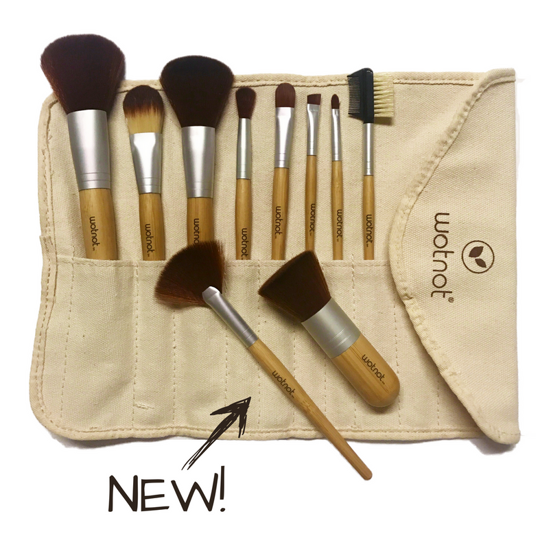 Wotnot NEW Vegan Makeup Brush Set + 2 BONUS brushes