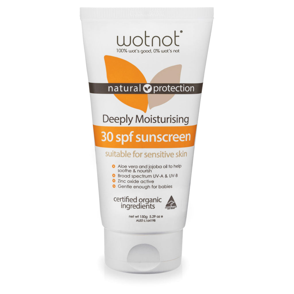 Wotnot SPF 30 Deeply Moisturising Natural Sunscreen (150g)
