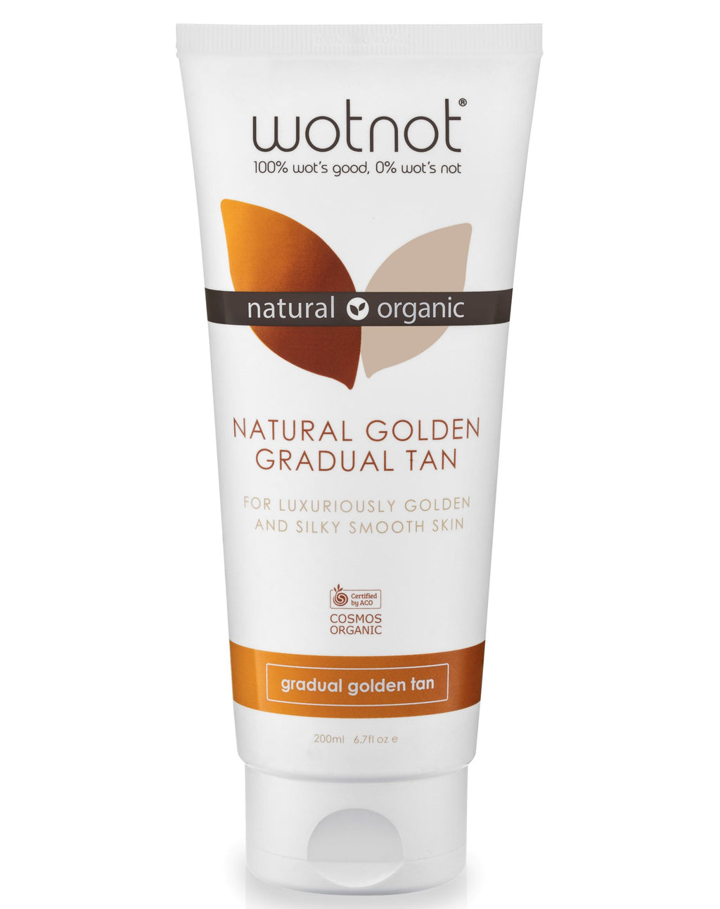Wotnot COSMOS Certified Organic Natural Golden Gradual Tanning Lotion (200ml)