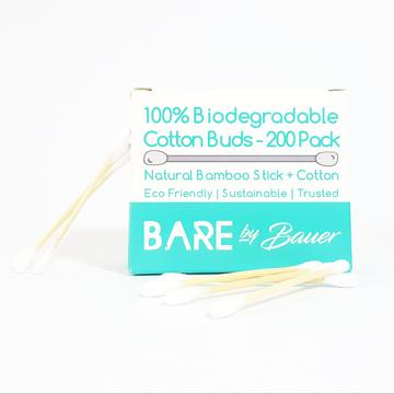 Bare by Bauer Biodegradable Cotton Buds (Pack 200)