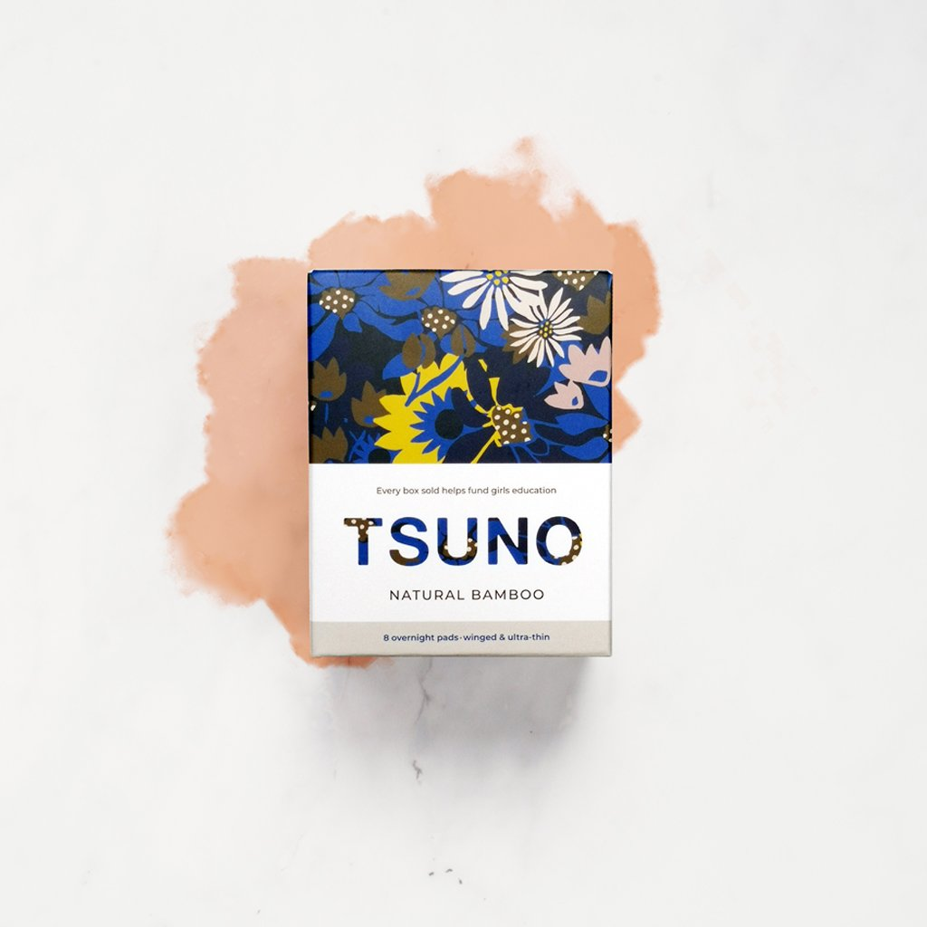 Tsuno Natural Bamboo Overnight Pads (10 box)