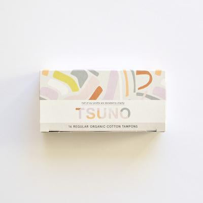Tsuno Organic Cotton Regular Tampons (16 pack)