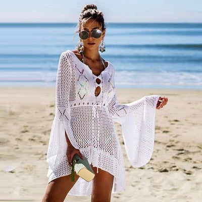 """Exotic Breeze"" Knit Cover Up"