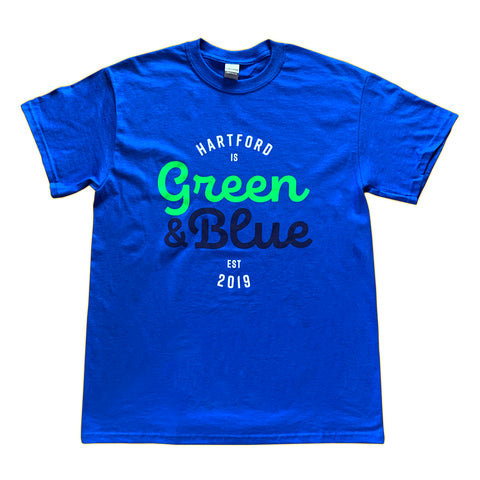Hartford is Green & Blue Tee