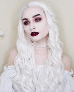 The White Queen Snow White Hair Synthetic Lace Front Wig