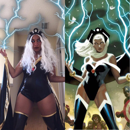 Storm (Marvel Comics) White Hair Synthetic Lace Front Wig