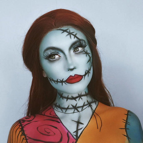 Sally (Nightmare before Christmas) Brown Hair Synthetic Lace Front Wig