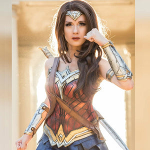 Wonder Women Brown Hair Synthetic Lace Front Wig