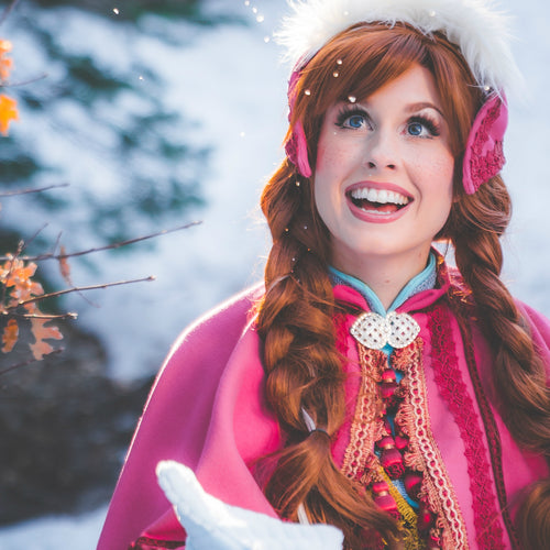 Princess Anna Brown Hair Synthetic Lace Front Wig