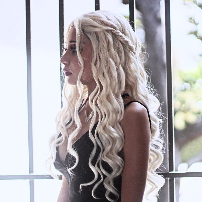 Daenerys Targaryen Inspired Wavy Synthetic Lace Front Wig