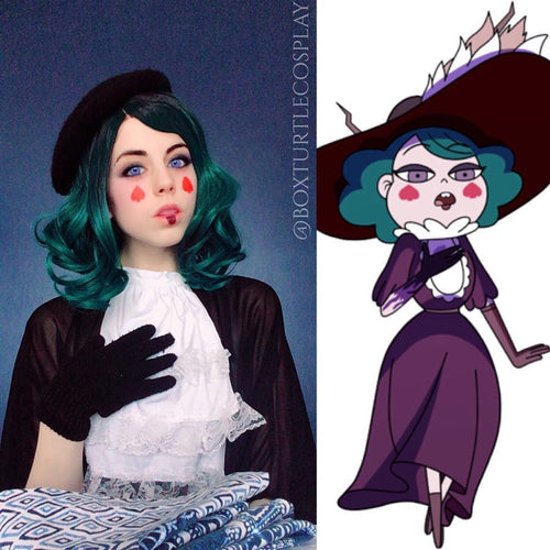 Eclipsa Teal Hair Synthetic Lace Front Wig