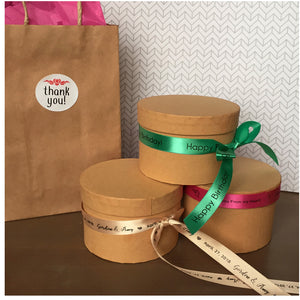 Custom printed LOGO RIBBON, packaging, gifts
