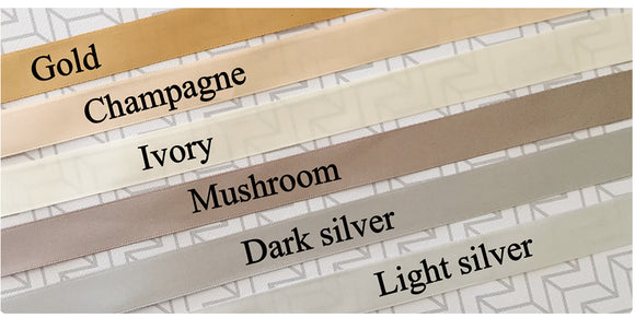 Neutrals Custom printed LOGO RIBBON, packaging, gifts