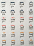 "Thank you multi-color Stickers - 1"" or 1.67"" round"