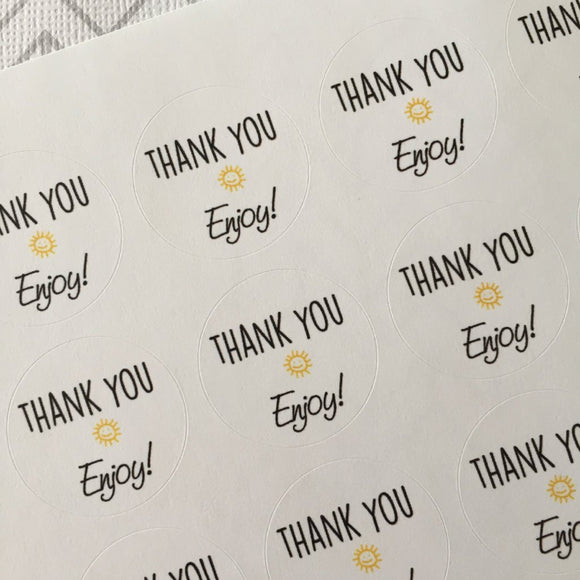 Thank you with Sunshine Stickers - 1