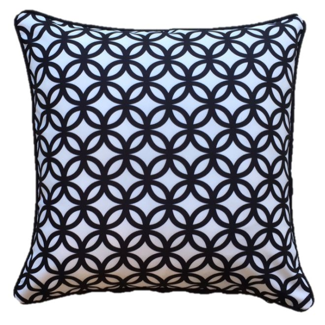 Black Diamond Outdoor Cushion Cover 45 x 45cm