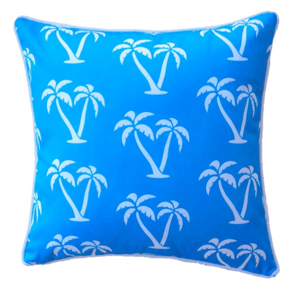 Blue Palmapple Outdoor Cushion Cover 45 x 45cm