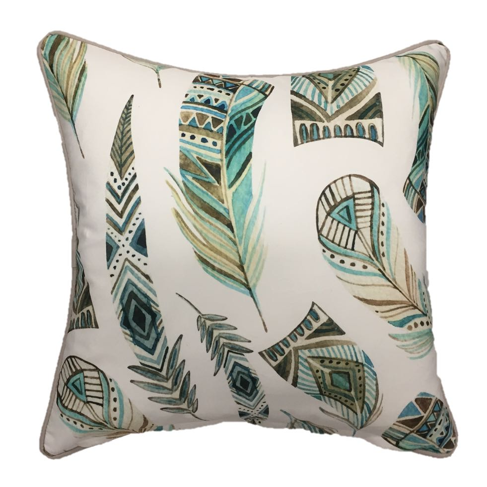 Boho Feather Outdoor Cushion Cover 45 x 45cm