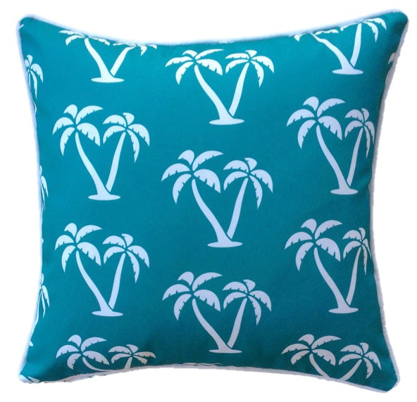 Aqua Palmapple Outdoor Cushion Cover 45 x 45cm