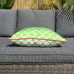 Lime Green Fishscale Outdoor Cushion Cover 45 x 45cm