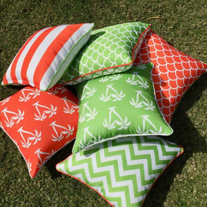 Orange Palmapple Outdoor Cushion Cover 60 x 60cm