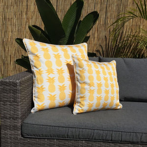 Yellow Palmapple Outdoor Cushion Cover 45 x 45cm