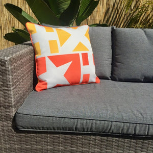 Star Yellow Outdoor Cushion Cover 45 x 45cm