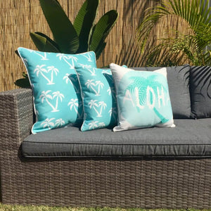 Turq Palmapple Outdoor Cushion Cover 60 x 60cm