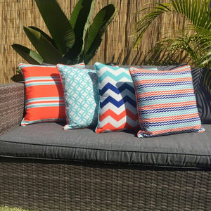 Trio Turq Outdoor Cushion Cover 45 x 45cm