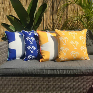 Mykonos Blue Palmapple Outdoor Cushion Cover 45 x 45cm