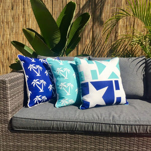 Mykonos Blue Palmapple Outdoor Cushion Cover 60 x 60cm