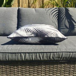 Black Palm Leaves Outdoor Cushion Cover 45 x 45cm