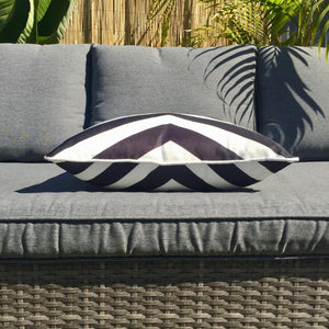 Black Groove Outdoor Cushion Cover 45 x 45cm