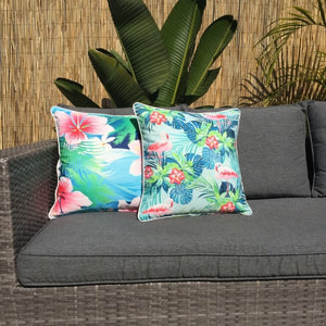 Flamingo Azure Outdoor Cushion Cover 45 x 45cm