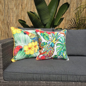 Parrot Red Face Outdoor Cushion Cover 45 x 45cm