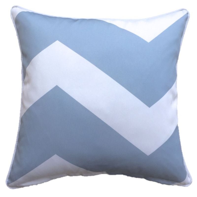 Chevron Blue Grey Outdoor Cushion Cover 45 x 45cm