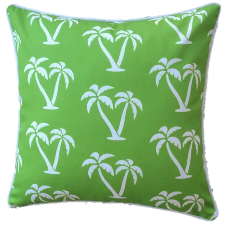Lime Green Palmapple Outdoor Cushion Cover 45 x 45cm