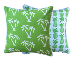 Lime Green Palmapple Outdoor Cushion Cover 60 x 60cm