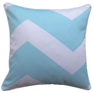 Chevron Mint Taupe Outdoor Cushion Cover 45 x 45cm