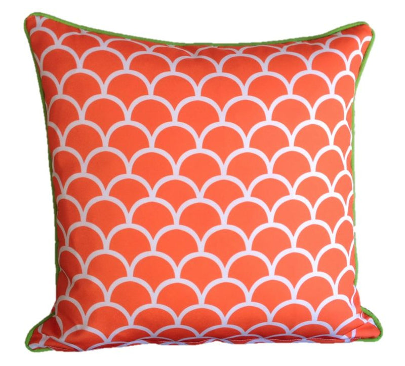 Orange Fishscale Outdoor Cushion Cover 45 x 45cm