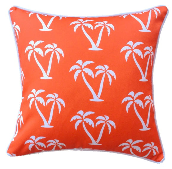 Orange Palmapple Outdoor Cushion Cover 45 x 45cm