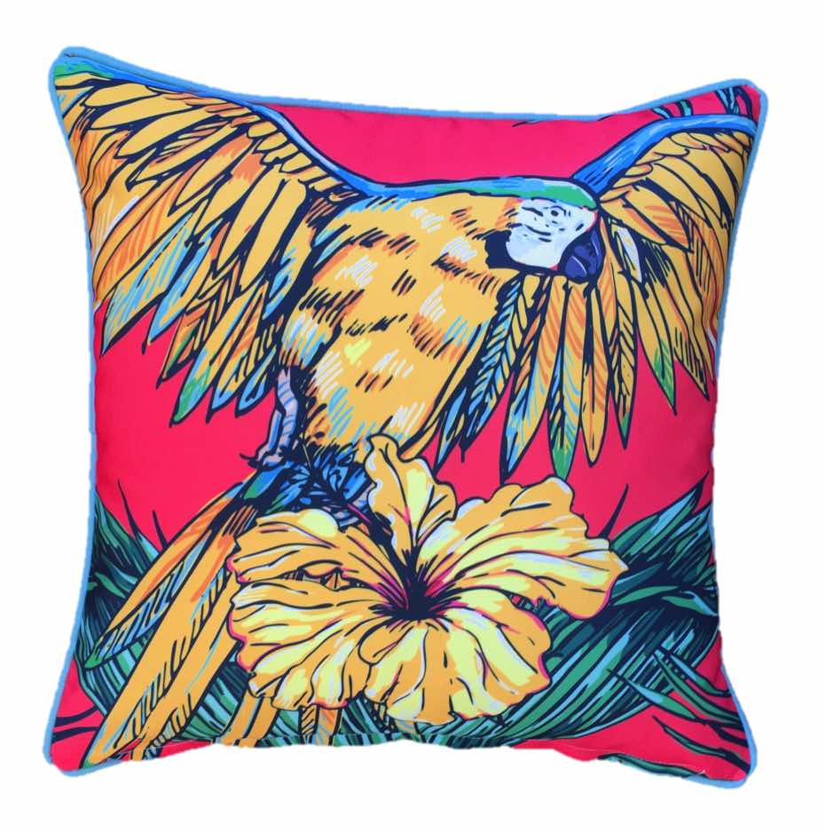 Parrot Yellow Outdoor Cushion Cover 45 x 45cm