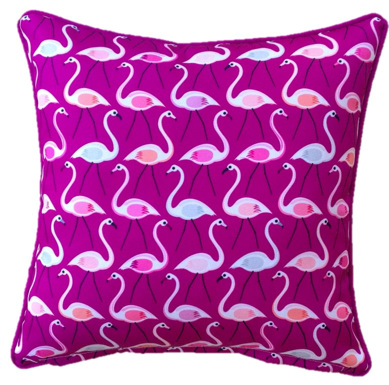 Pink Flamingo Outdoor Cushion Cover 60 x 60cm